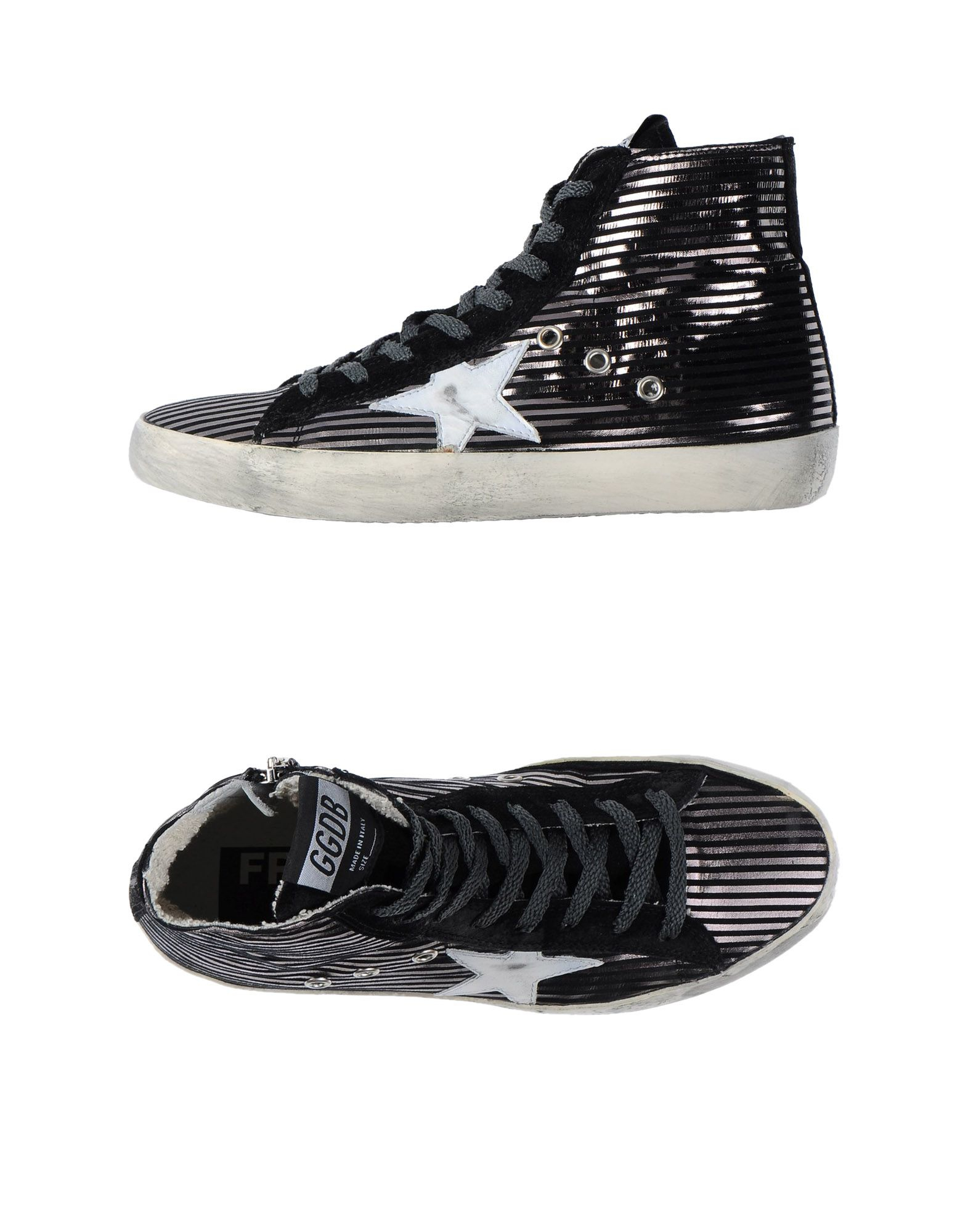 golden goose deluxe brand high top leather sneakers in black for men lyst. Black Bedroom Furniture Sets. Home Design Ideas