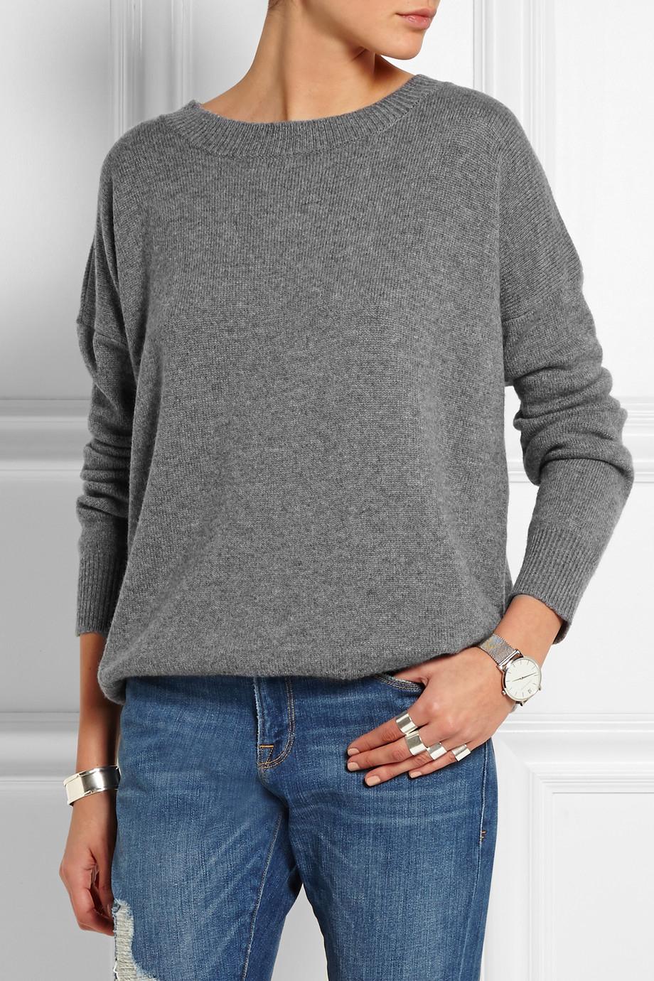 Frame Le Boyfriend Cashmere Sweater in Gray | Lyst