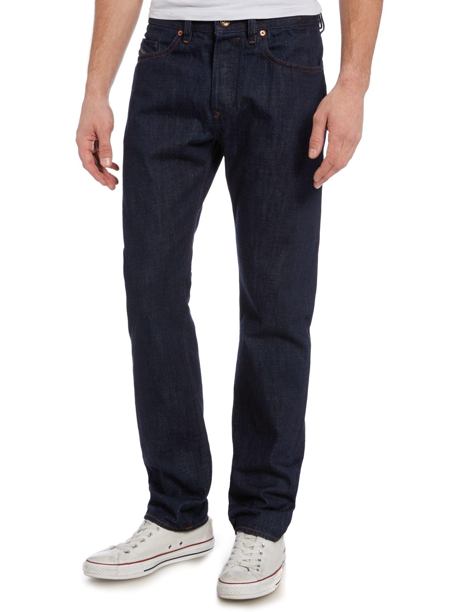 diesel buster 076c tapered fit stretch jeans in blue for men lyst. Black Bedroom Furniture Sets. Home Design Ideas