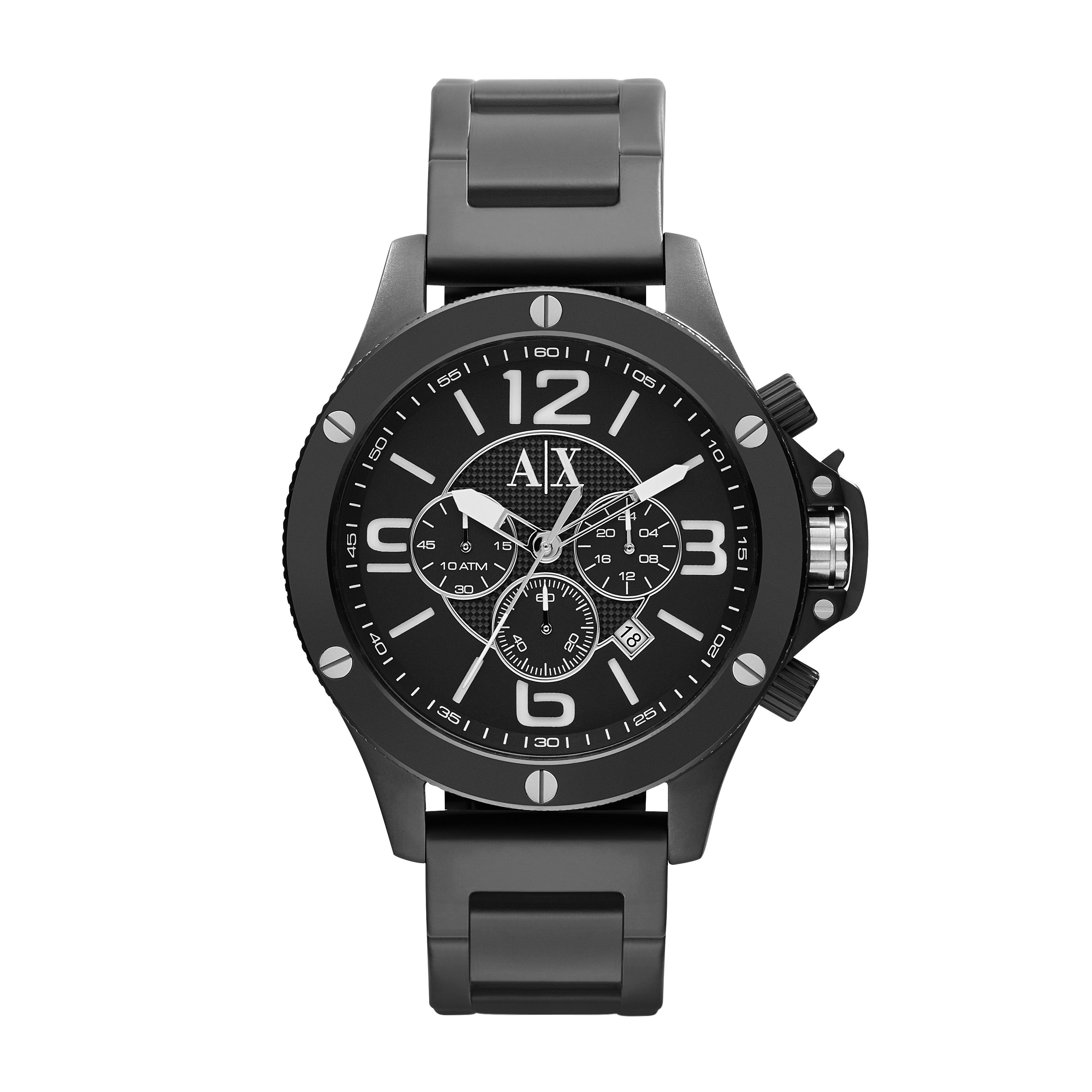 armani exchange ax1503 black stainless steel mens