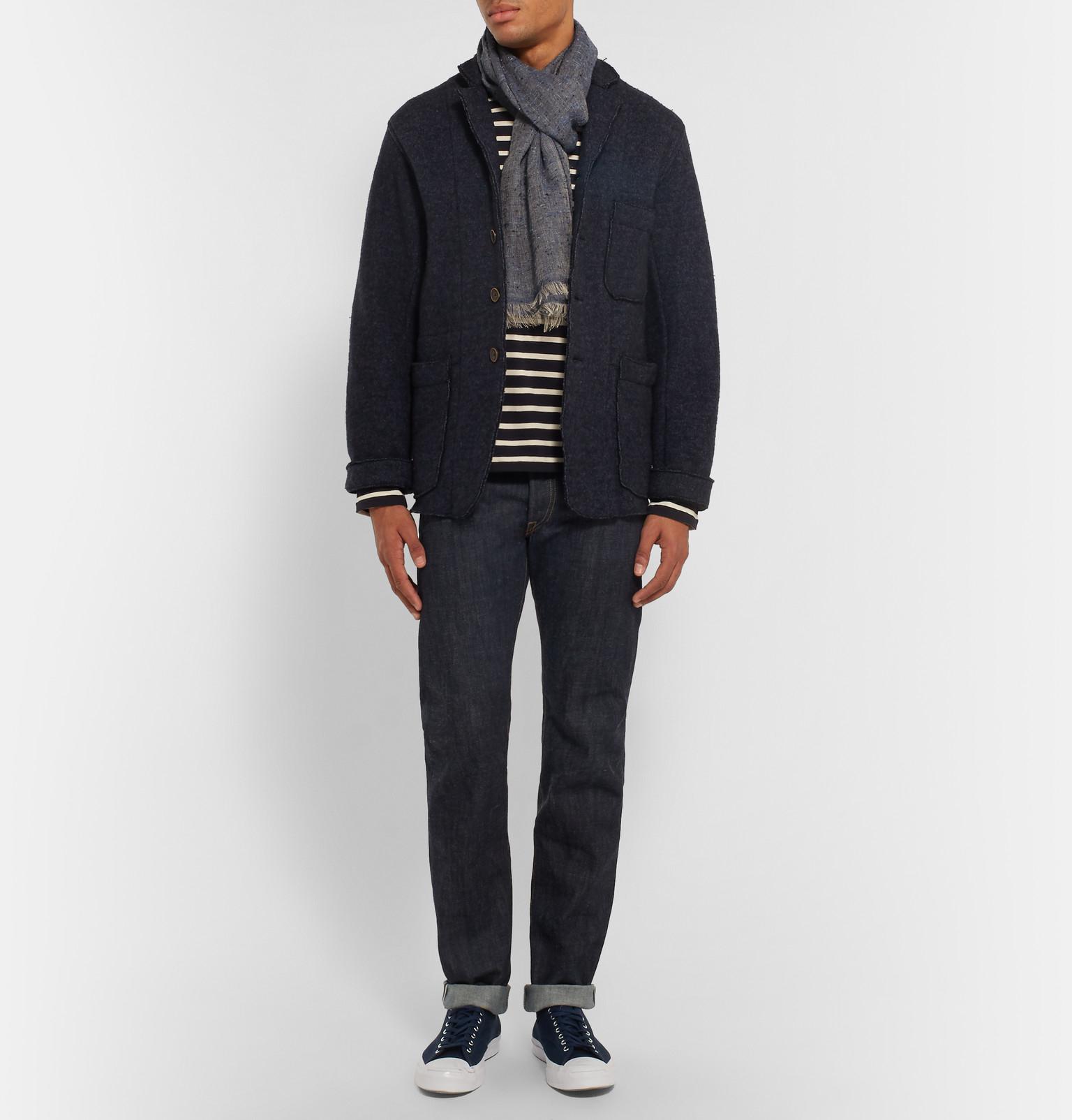 Rrl Slim Fit Selvedge Denim Jeans In Blue For Men Dark