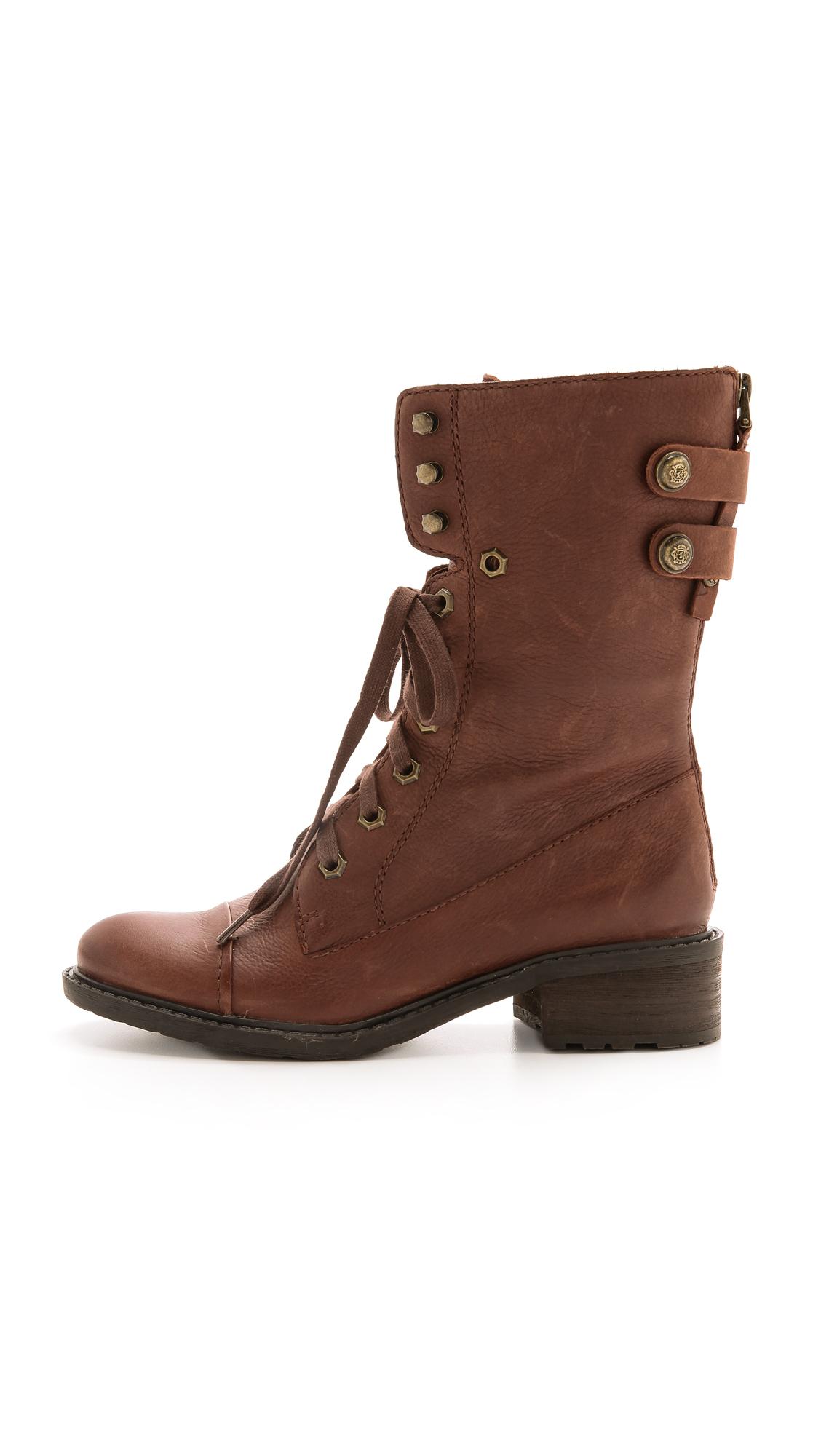 sam edelman darwin combat boots bridal brown in brown