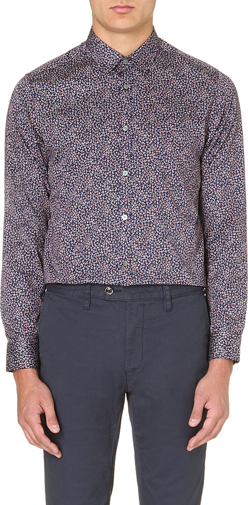 Ted Baker Leojak Small Floral Print Shirt In Floral For