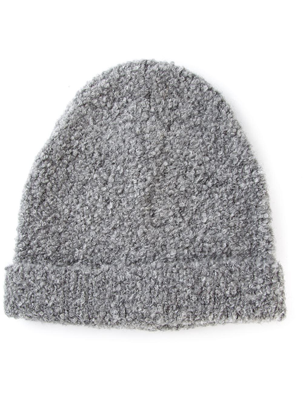chevron patch knitted beanie - Grey Neil Barrett QFsxb