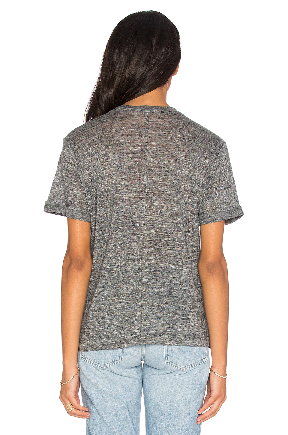 Michael stars crew neck tee in gray lyst for Michael stars tee shirts
