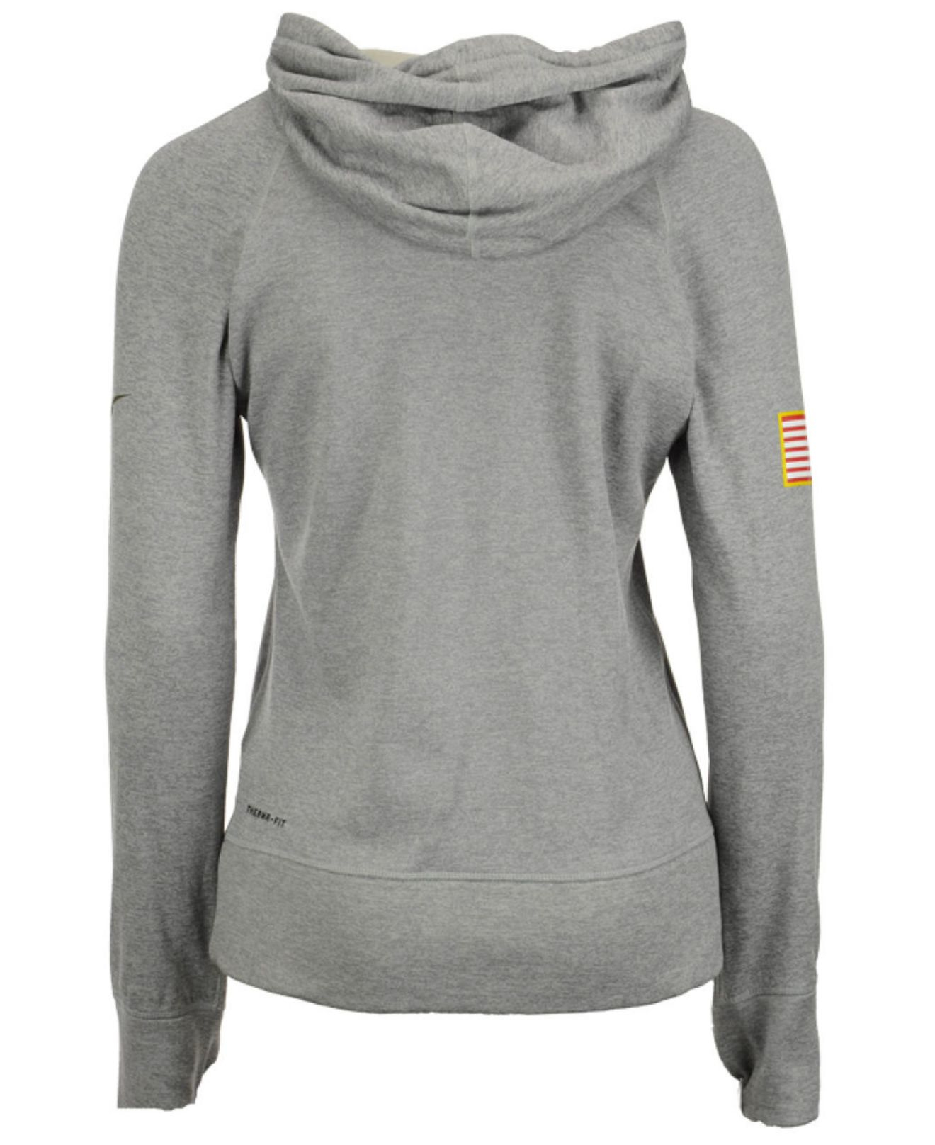 online retailer 25be2 e3659 Nike Gray Pittsburgh Steelers Salute To Service Hoodie