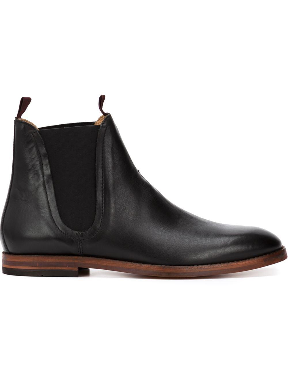 h by hudson 39 tamper 39 chelsea boots in black for men lyst. Black Bedroom Furniture Sets. Home Design Ideas
