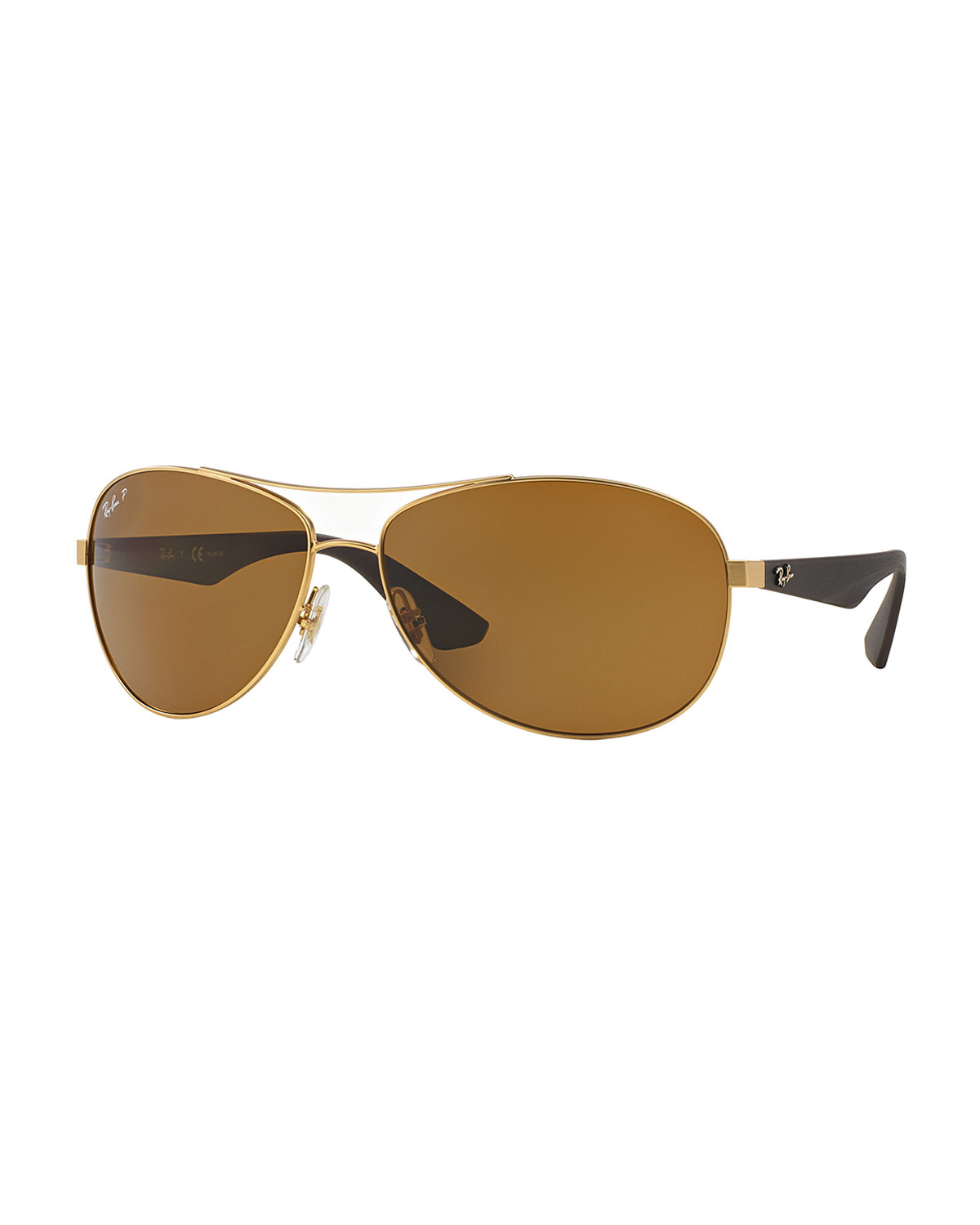 Ray-ban Wire-frame Metal Sunglasses in Metallic Lyst