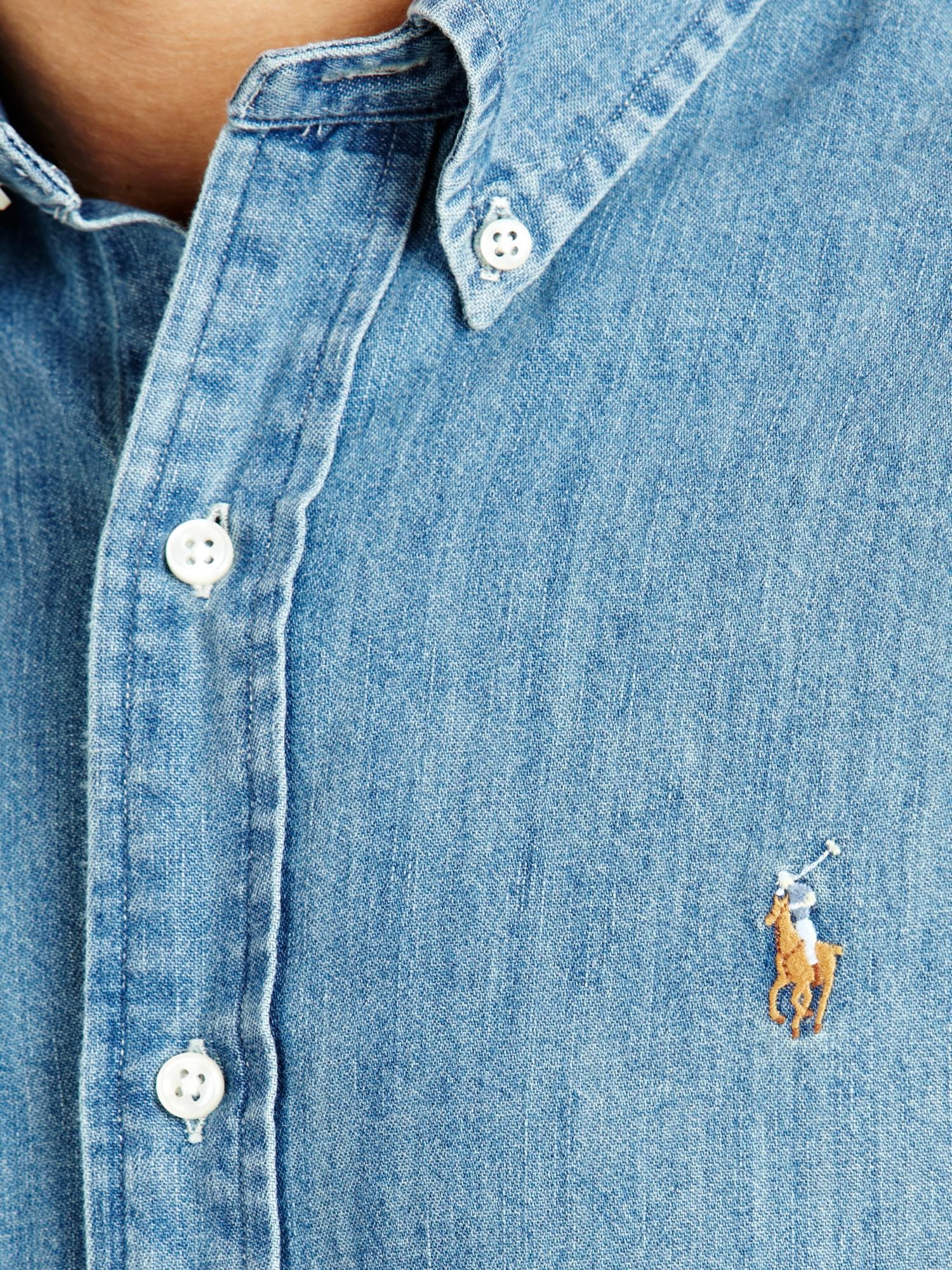 af8f79e09ad Slim Fit Denim Shirt ... Gallery · Mens Polo Ralph Lauren ...