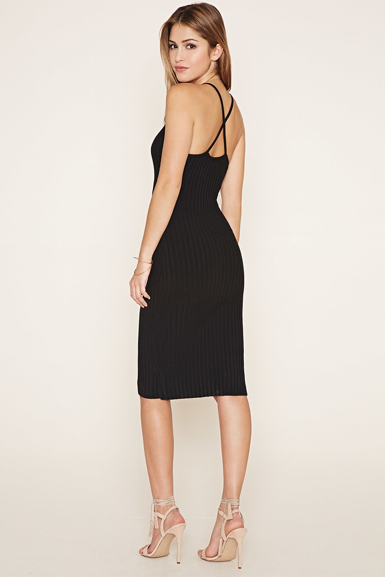 Forever 21 Crisscross-back Bodycon Dress in Black | Lyst - photo #37