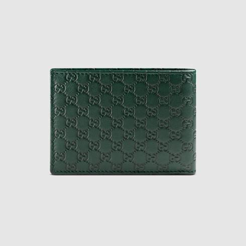 8ec9c9222e1e Gucci Microguccissima Billfold Wallet in Green for Men - Lyst