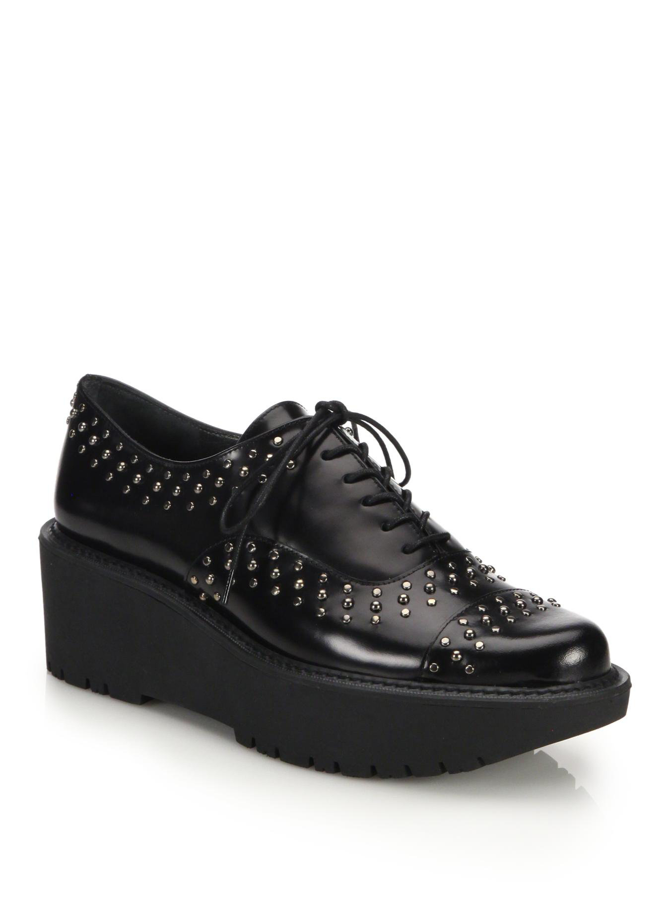 Stuart Weitzman Studded Platform Oxfords free shipping footlocker pictures fake online sale 2014 newest buy cheap 2015 new X0smCHZNhB