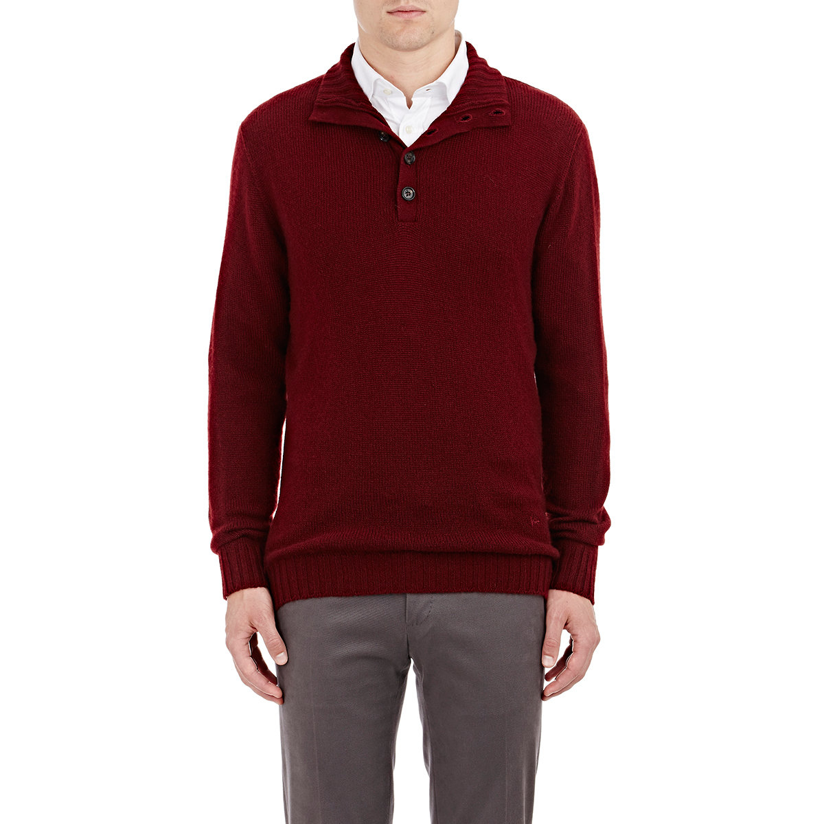Man Red Cashmere Turtleneck Sweater