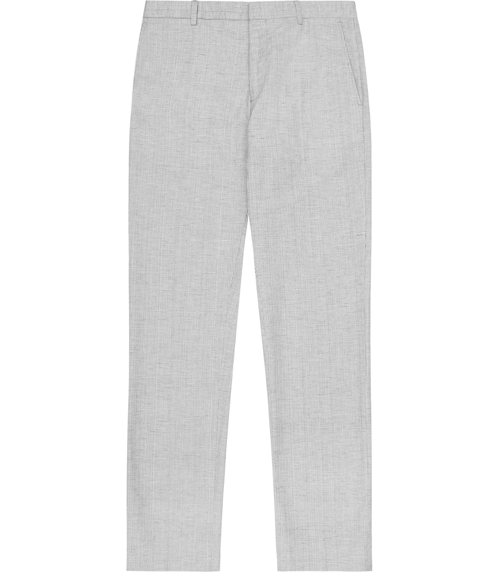 Reiss Robbie Check Tailored Suit Trousers in Grey (Grey) for Men