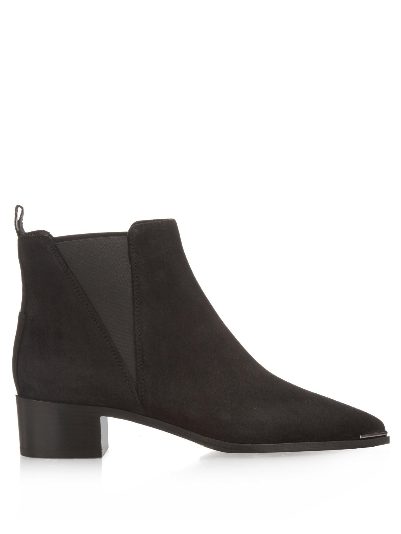acne studios jensen suede ankle boots in black lyst. Black Bedroom Furniture Sets. Home Design Ideas
