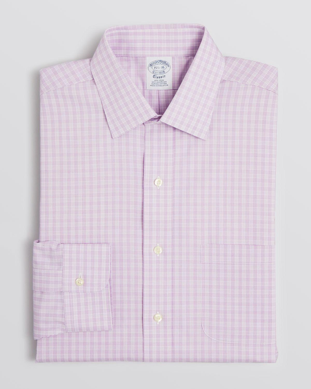 Lyst Brooks Brothers Glen Plaid Dress Shirt In Purple