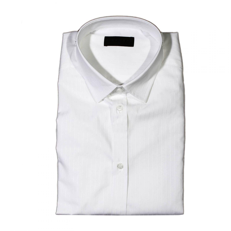 lyst john richmond shirt stripe ton sur ton in white for men. Black Bedroom Furniture Sets. Home Design Ideas