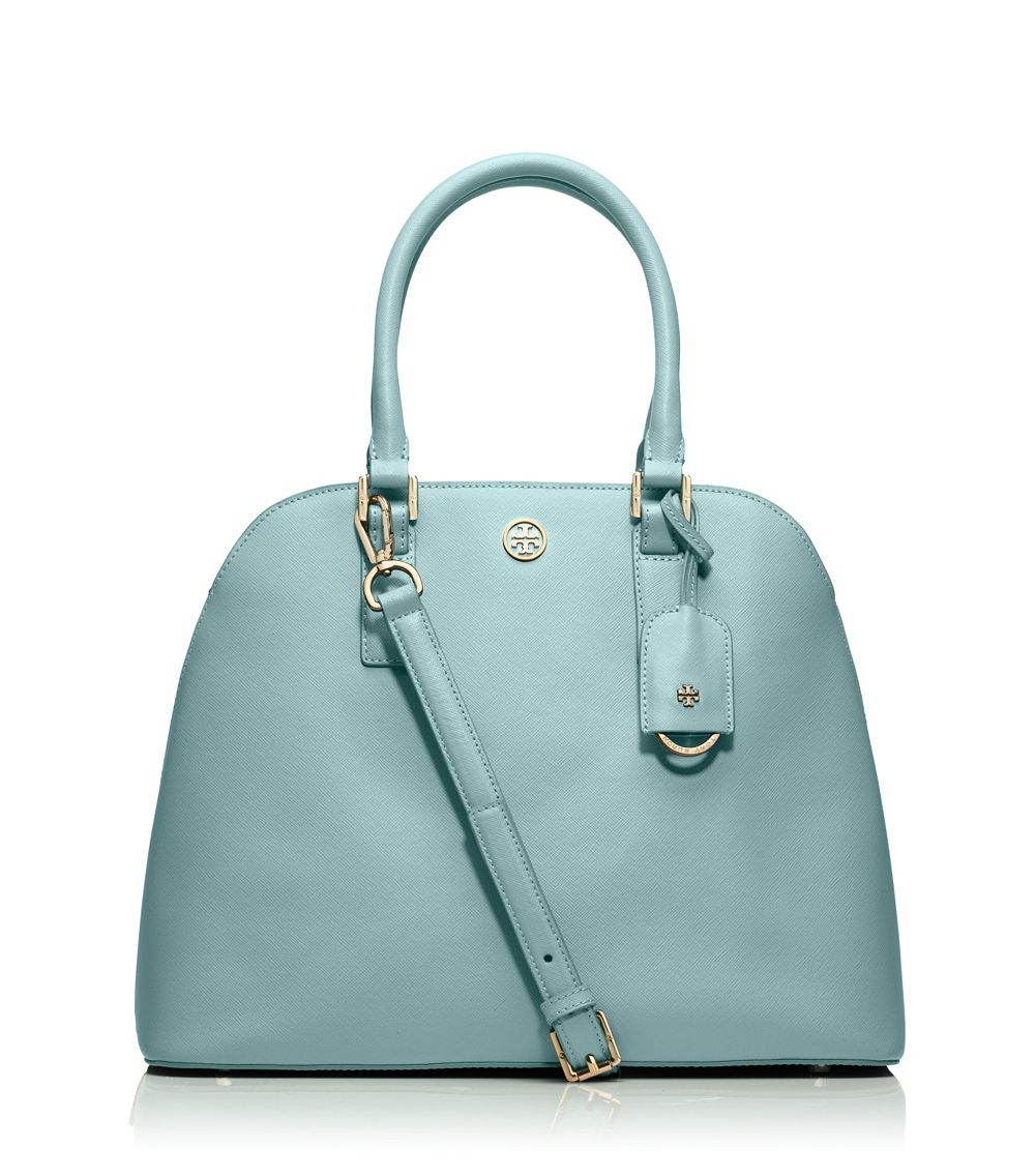 9034c11734f8 Tory Burch Robinson Open Dome Satchel in Blue - Lyst