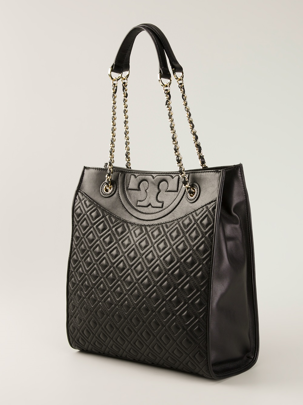 Lyst Tory Burch Fleming Tote In Black