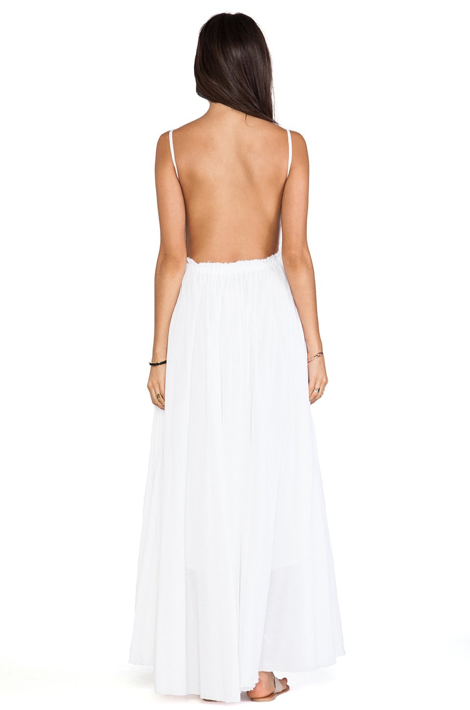 Lyst Raga Backless Maxi Dress In White