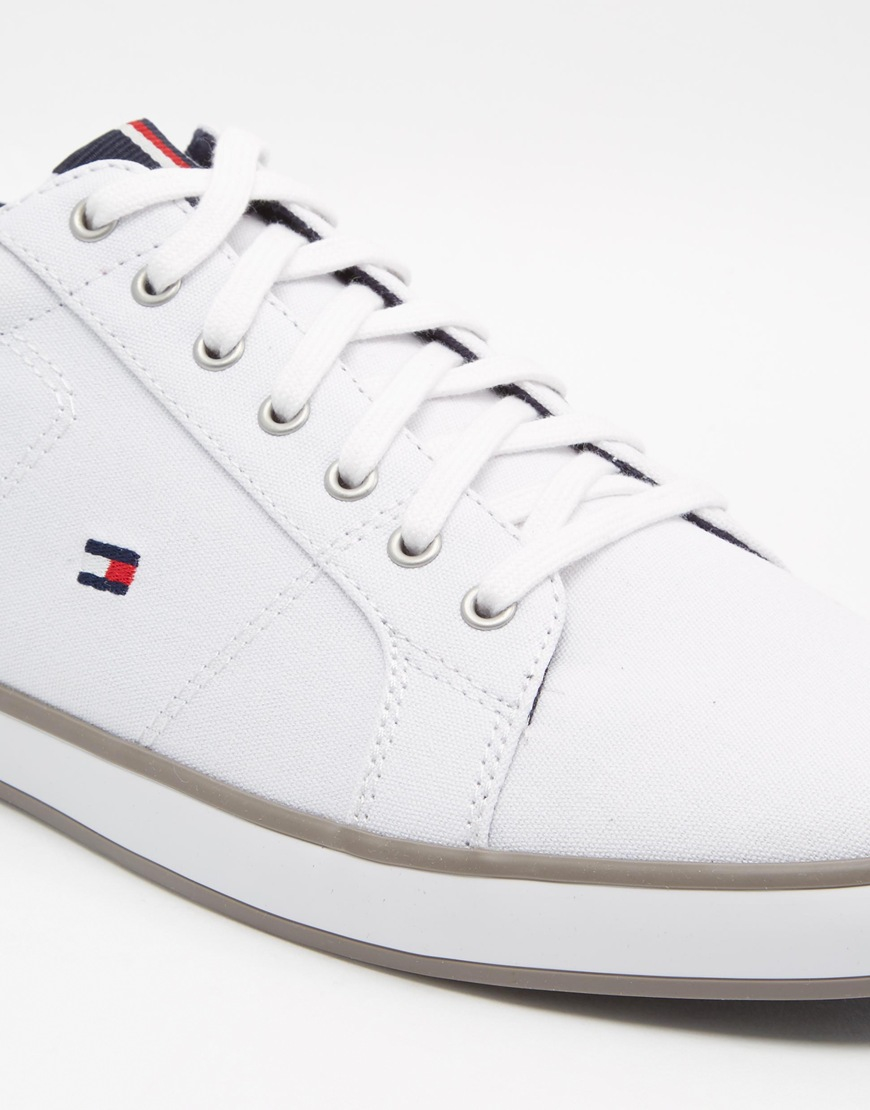 1c2844f73 Lyst - Tommy Hilfiger Harlow Lace Up Plimsolls - White in White for Men