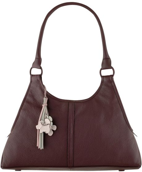 Radley Boddington Large Hobo Handbag in Purple
