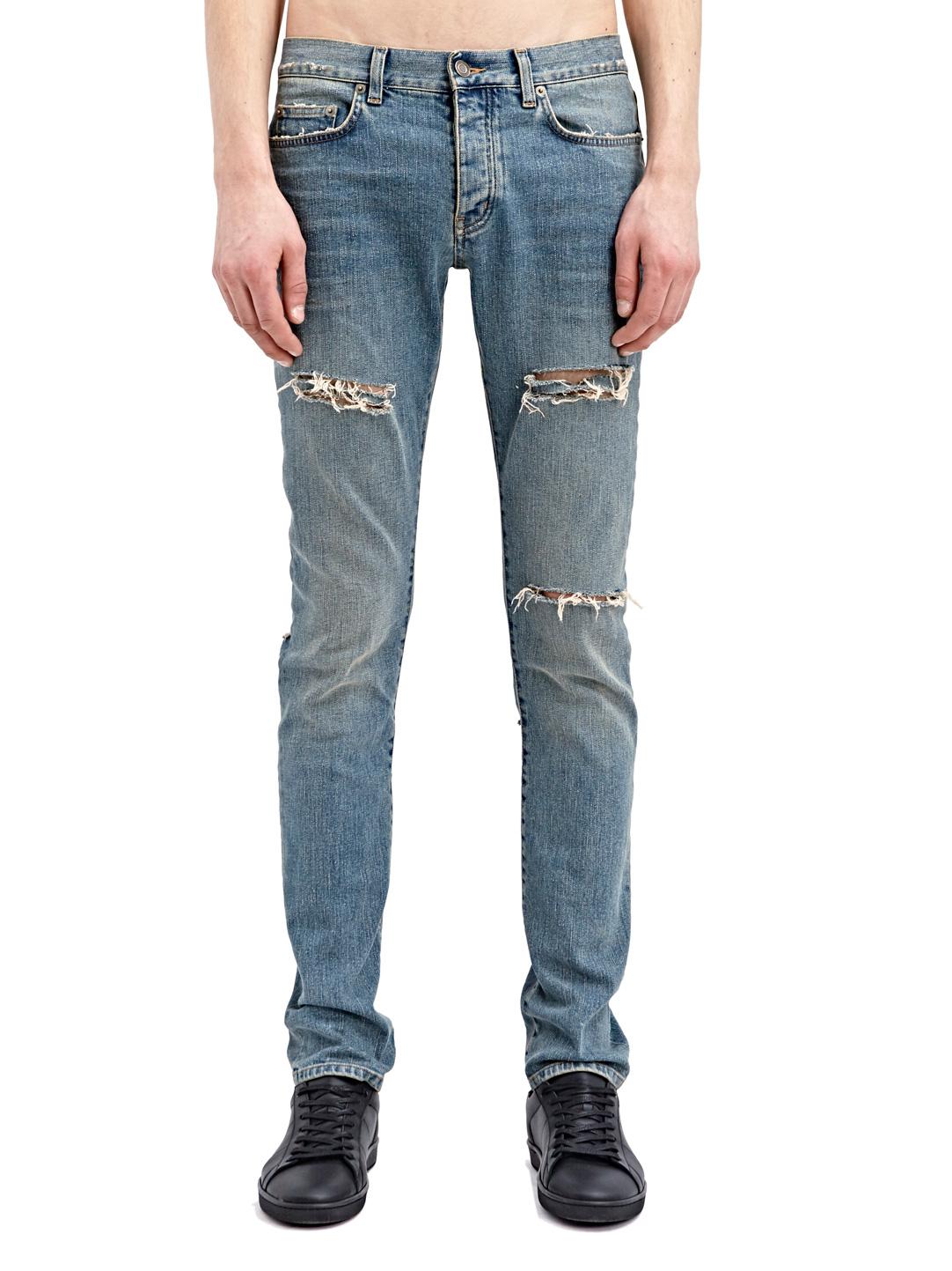 Lyst - Saint Laurent Mens Slim Denim Jeans in Blue for Men - photo#7