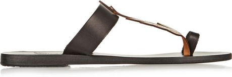 Ancient Greek Sandals Elia Leaf Detailed Leather Sandals