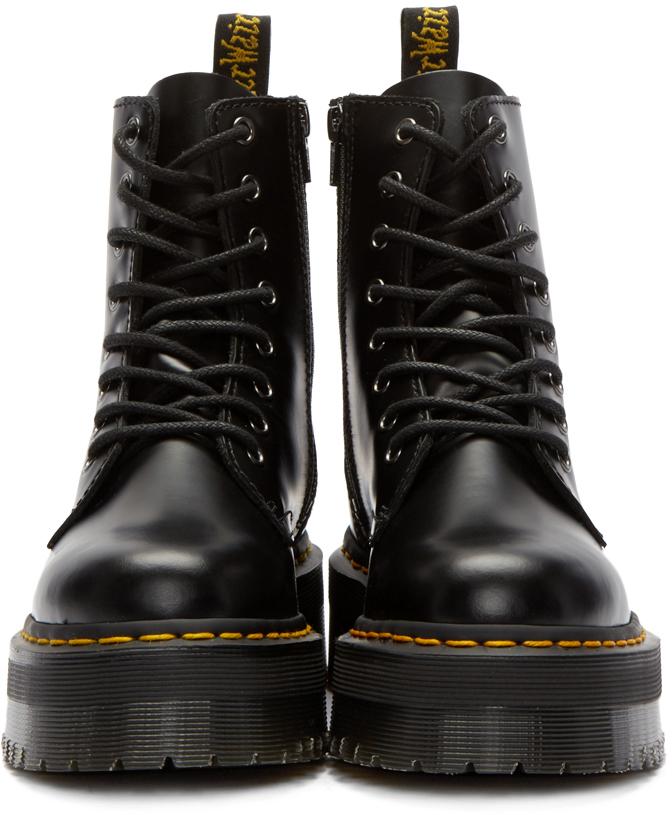8427a3f16827 Lyst - Dr. Martens Black Eight-eye Jadon Boots in Black