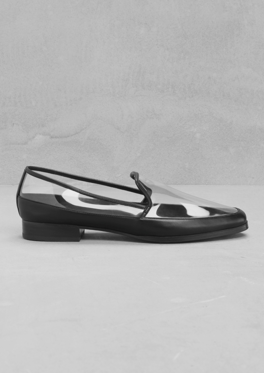 38e01abc0cc   Other Stories Transparent Loafers in White - Lyst