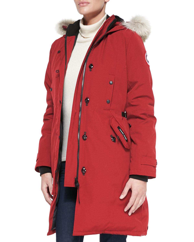 Canada Fashion Magazine: Canada Goose Kensington Fur-Hood Parka In Black