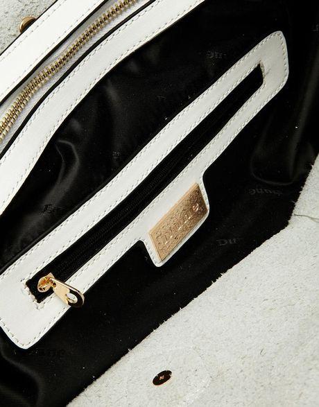 Dune Deavey Structured Handhel Bag With Weave Affect