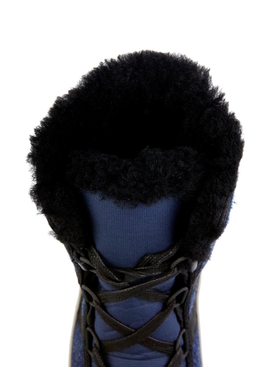 Sorel Tivoli II Felt and Leather Boots in Navy (Blue)