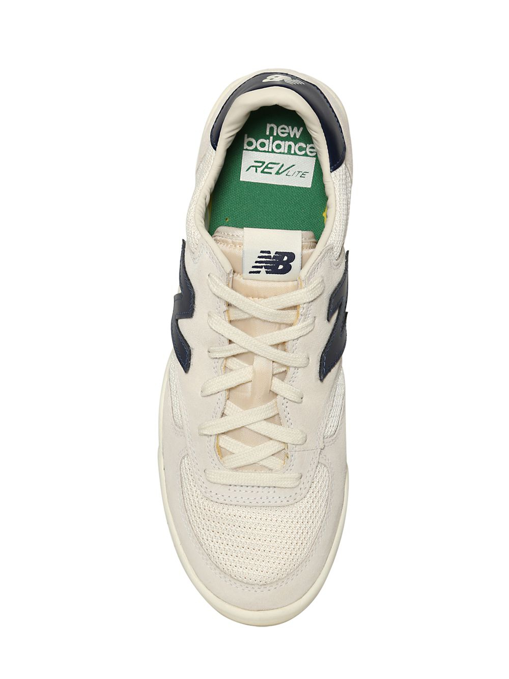 New Balance 300 Suede & Mesh Tennis Sneakers in White/Navy (White ...