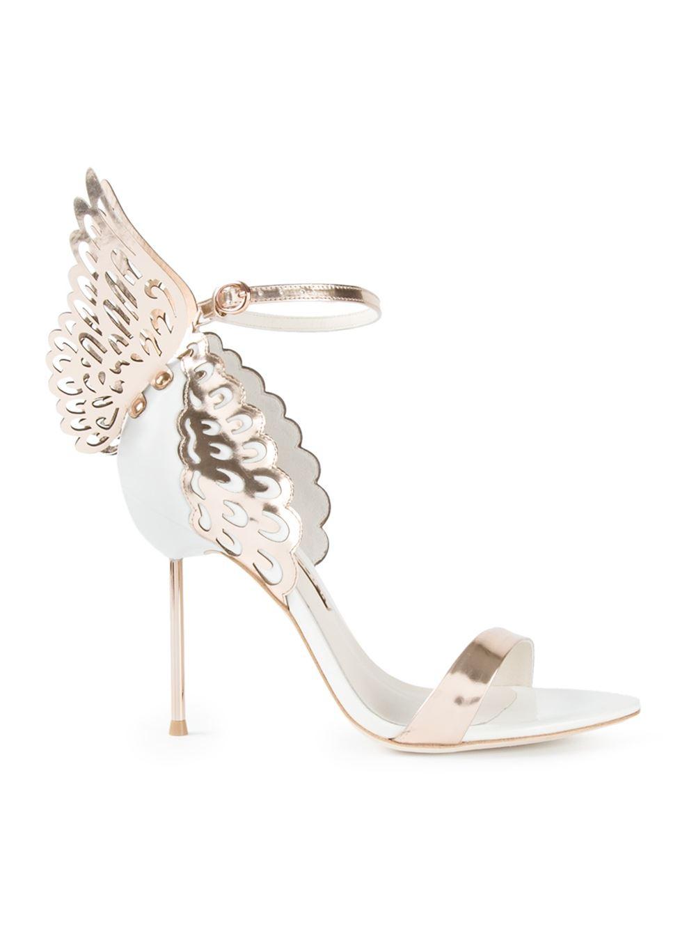 Sophia webster 39 evangeline 39 sandals in metallic lyst for Sophia webster wedding shoes