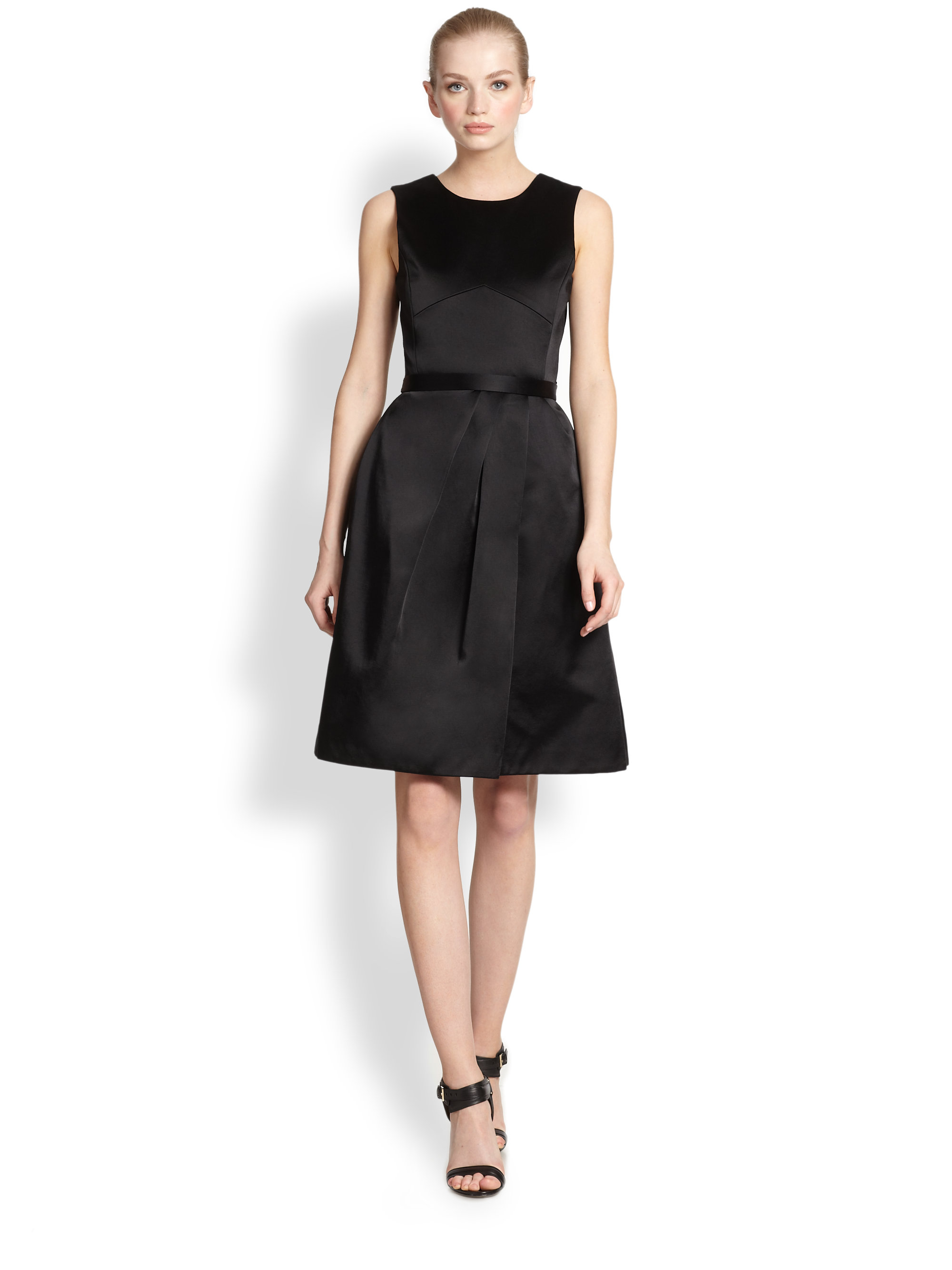 Jason wu Satin Dress in Black | Lyst