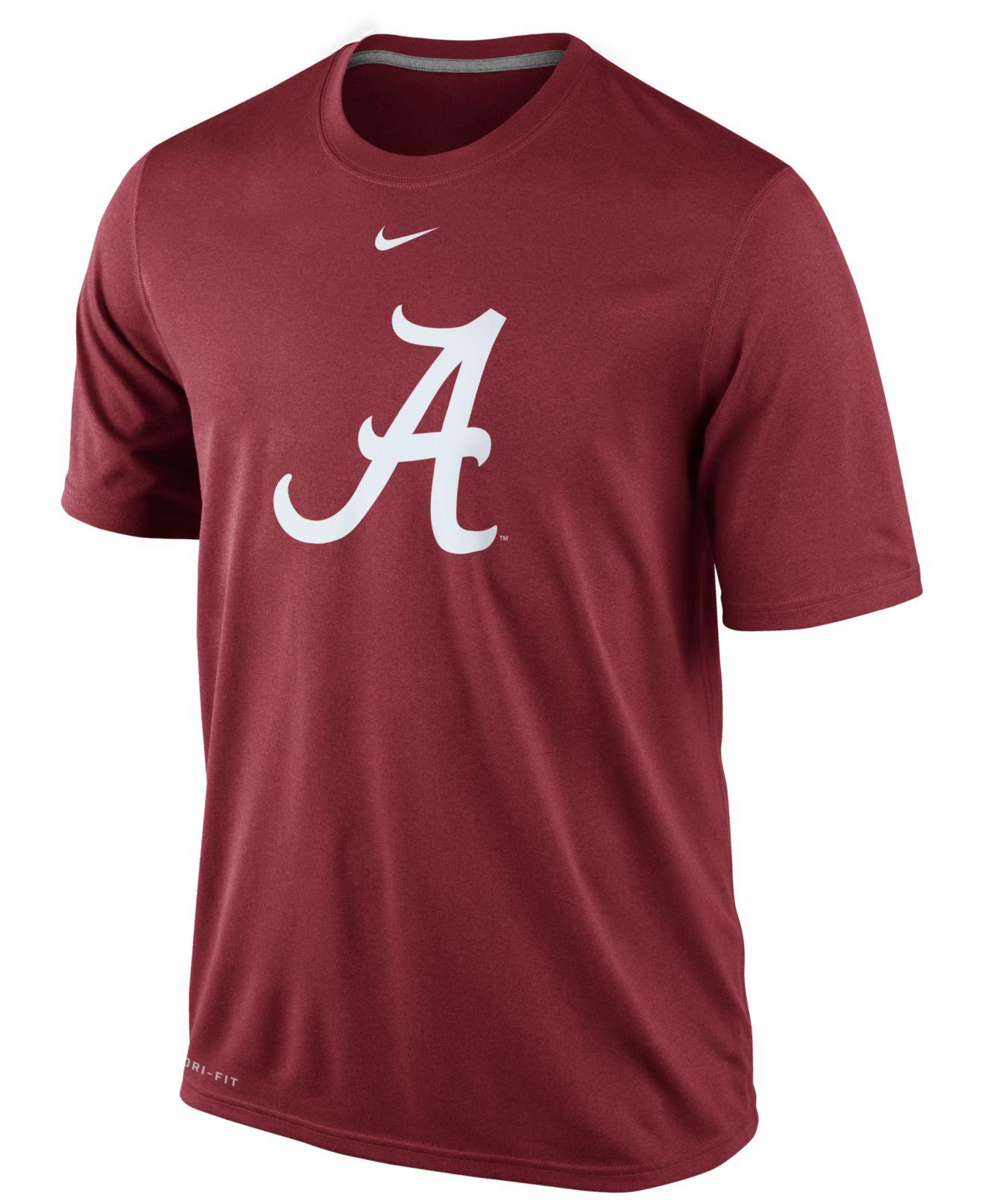 Nike men 39 s alabama crimson tide dri fit logo legend t for Alabama crimson tide tee shirts