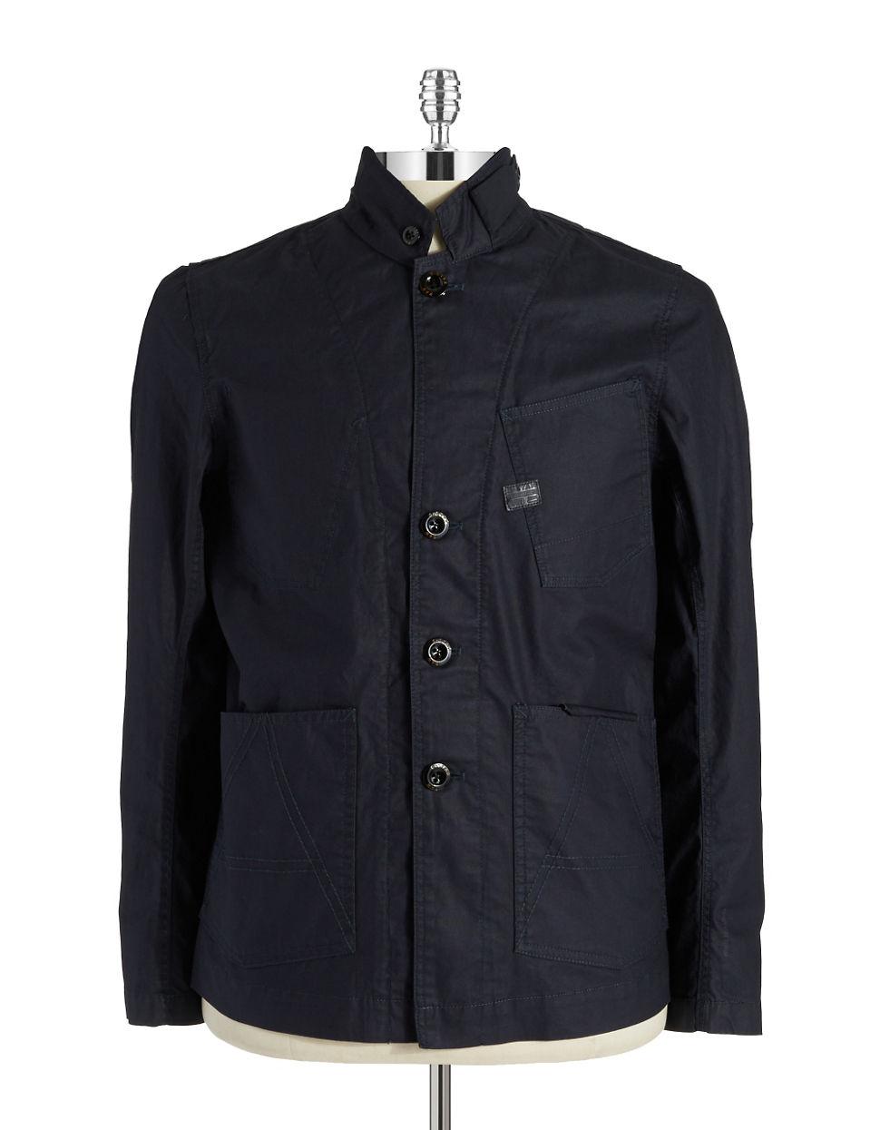 g star raw lightweight jacket in blue for men lyst. Black Bedroom Furniture Sets. Home Design Ideas