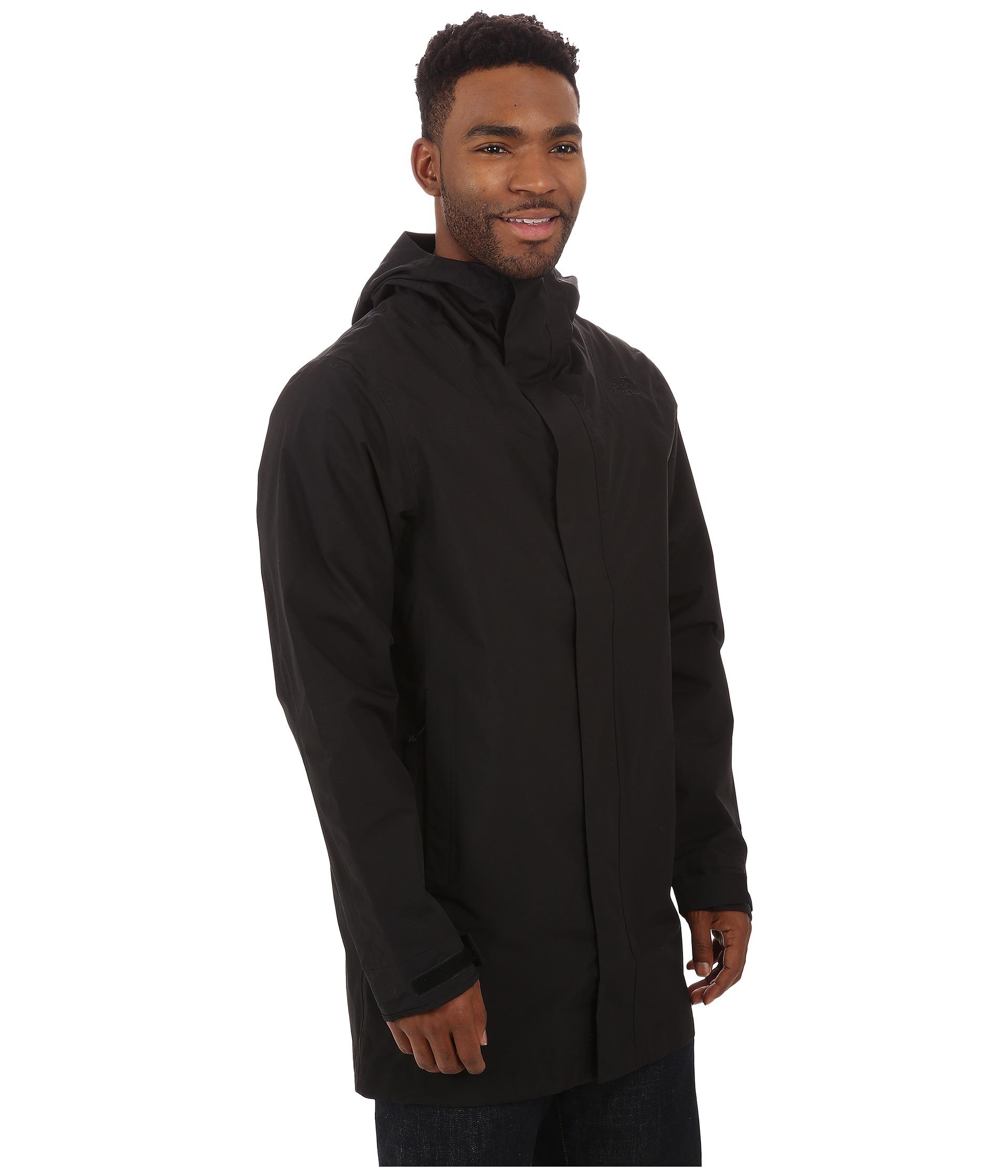 3b9a56f7f The North Face Black El Misti Trench Coat for men