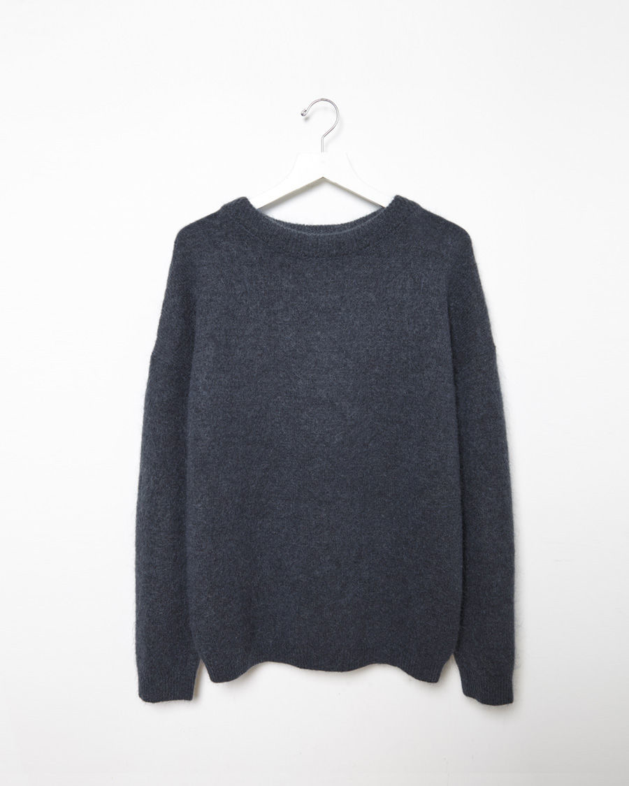 Acne studios Dramatic Moh Sweater in Blue | Lyst