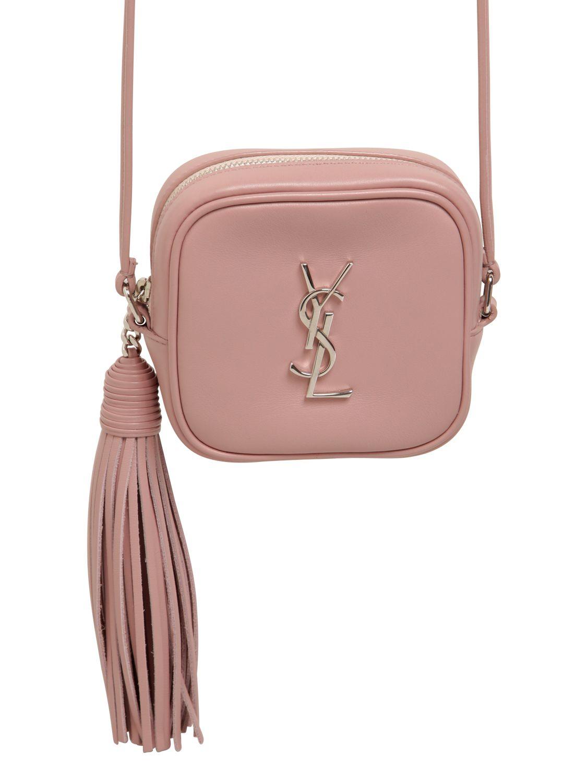 Monogram Leather Shoulder Bag W Tassel