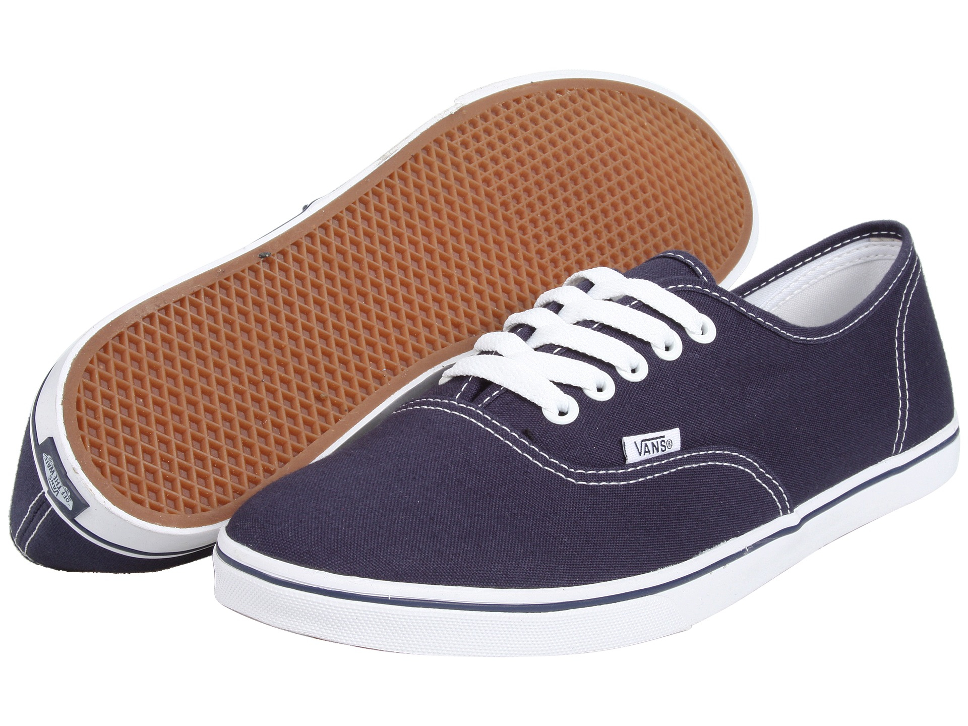 vans authentic lo pro in blue navy true white lyst. Black Bedroom Furniture Sets. Home Design Ideas