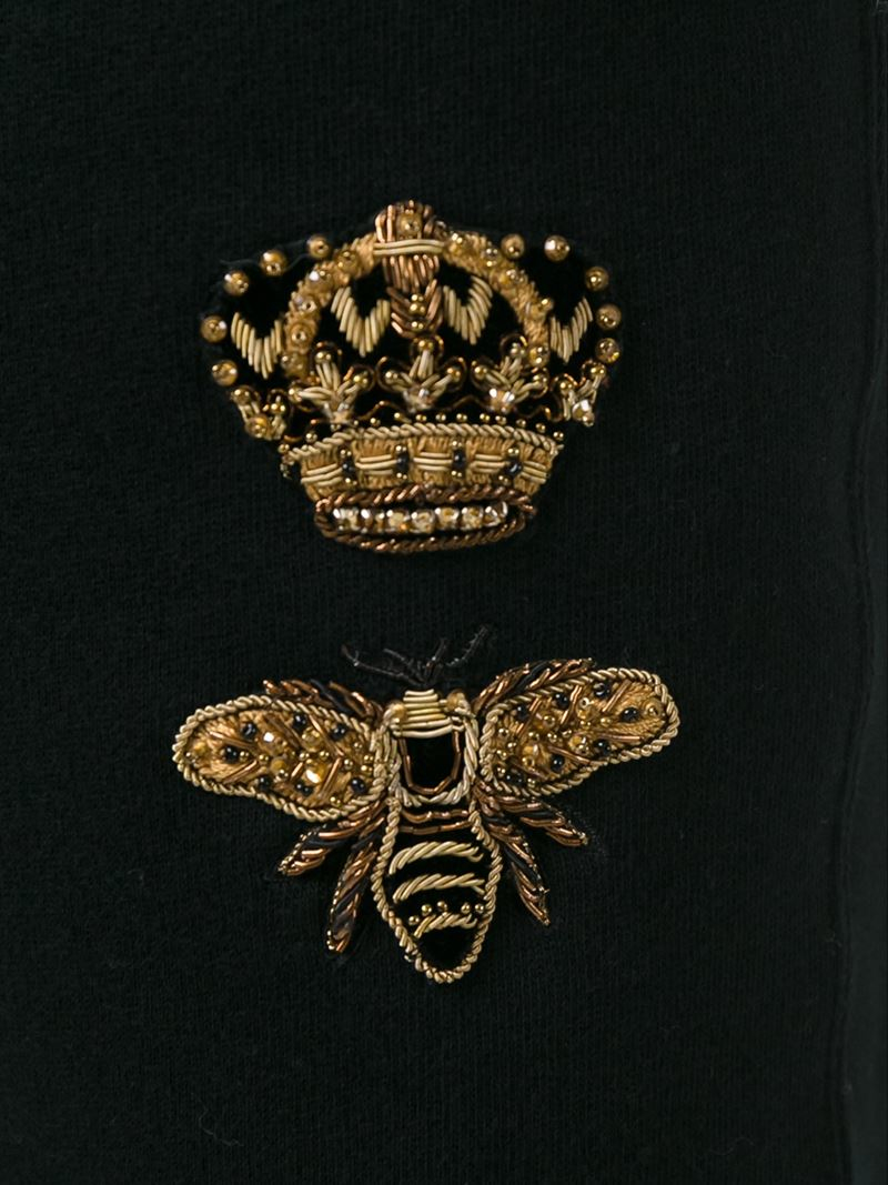 Lyst Dolce Amp Gabbana Crown Amp Bee Embroidered Patch Track