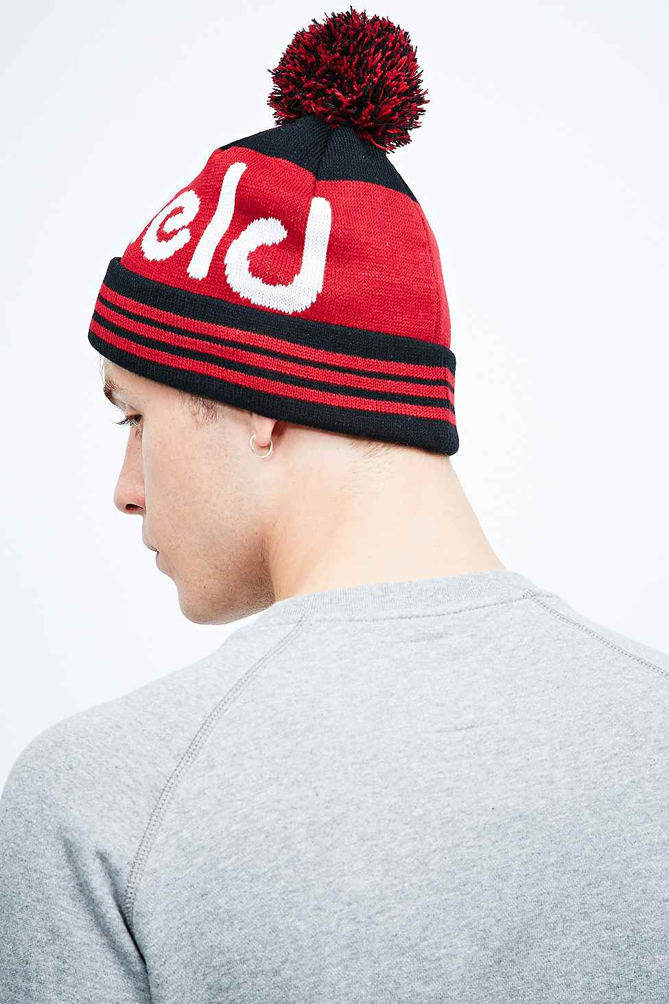 30773038c Penfield Sanford Bobble Hat in Black for Men - Lyst