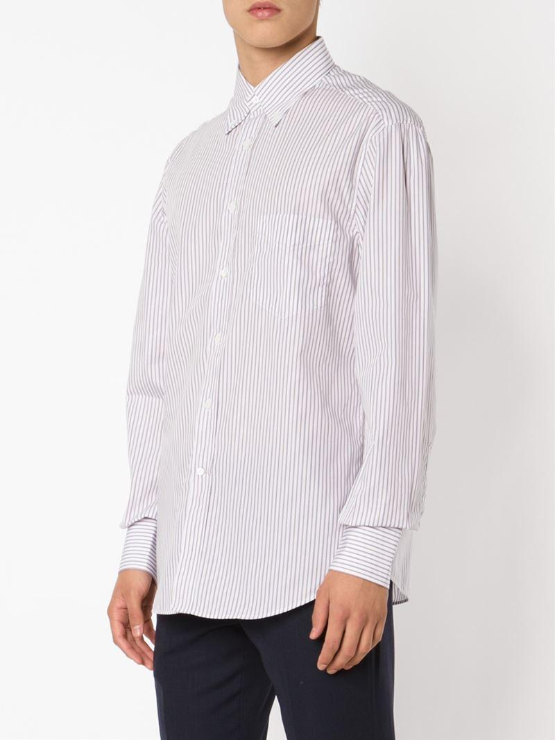 Lyst brunello cucinelli button down collar shirt in for White button down collar shirt