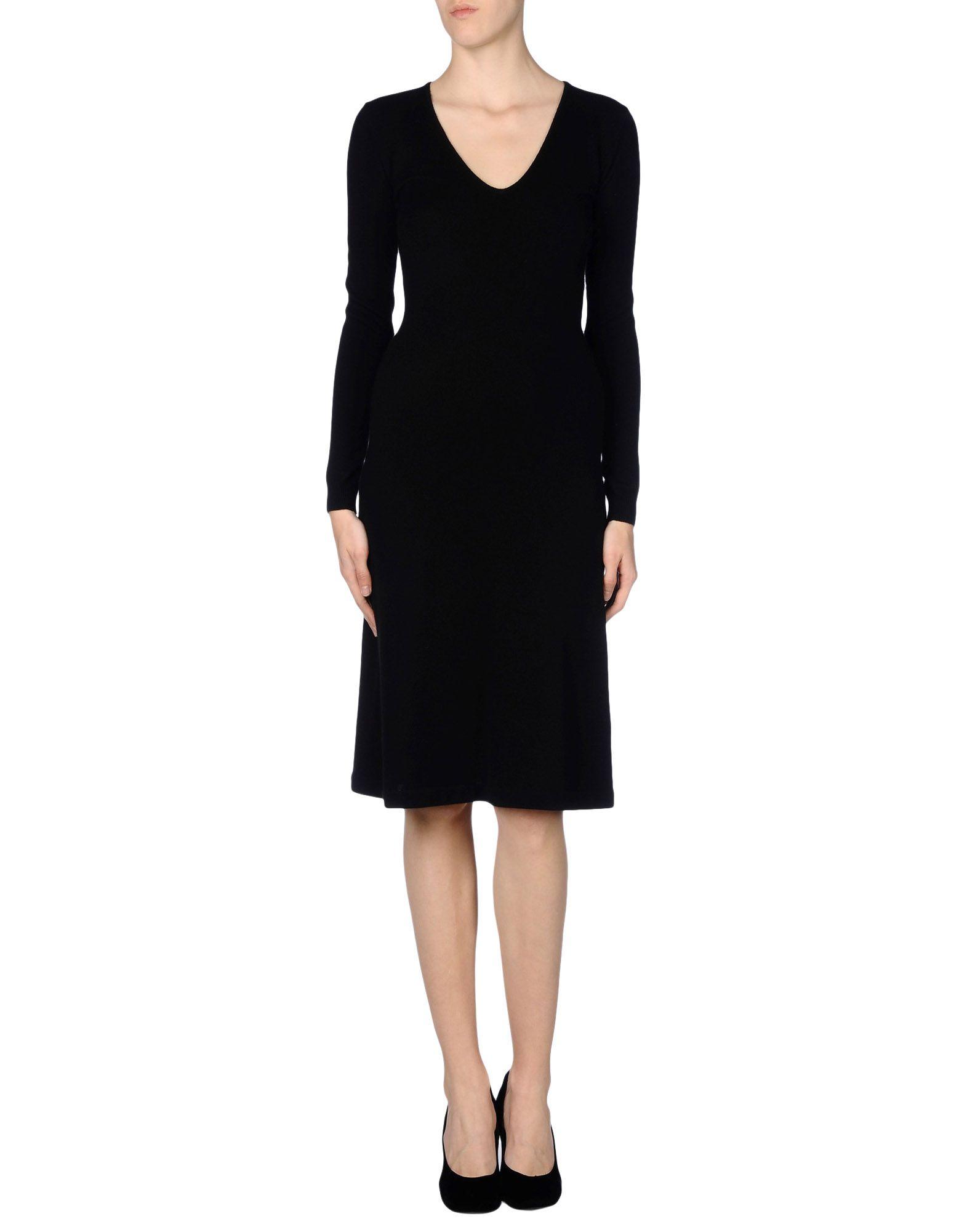 Ralph lauren black label knee length dress in black lyst