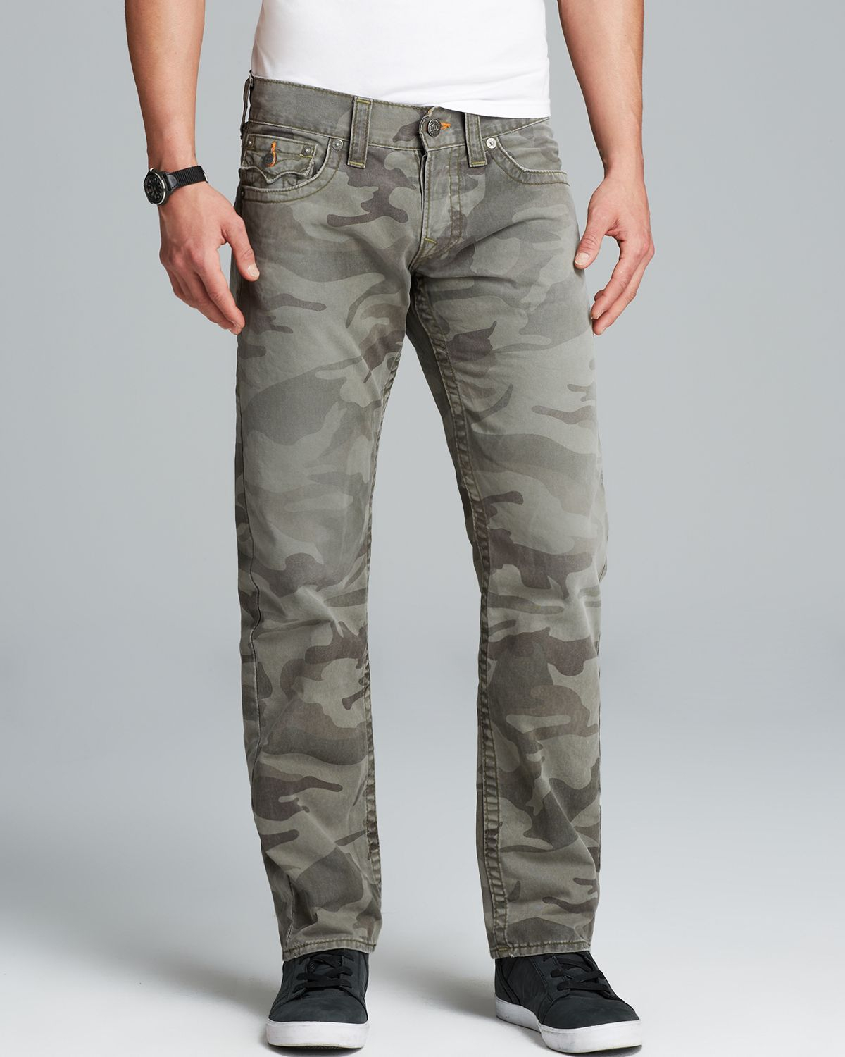Lyst True Religion Jeans Ricky Straight Fit In Camo In