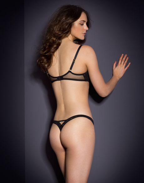 6431e70907 Lyst Agent Provocateur Alina Thong Black In Black