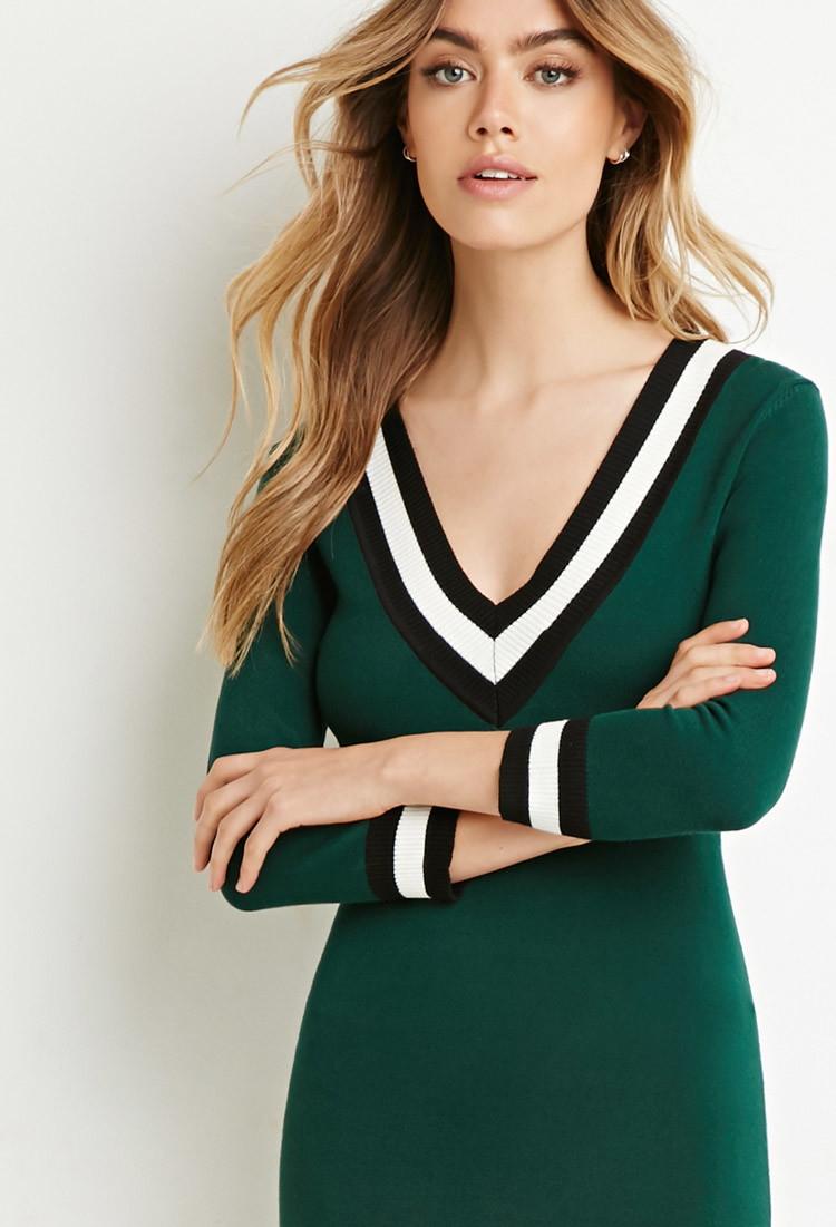 Varsity Stripe Sweater Forever 21 94
