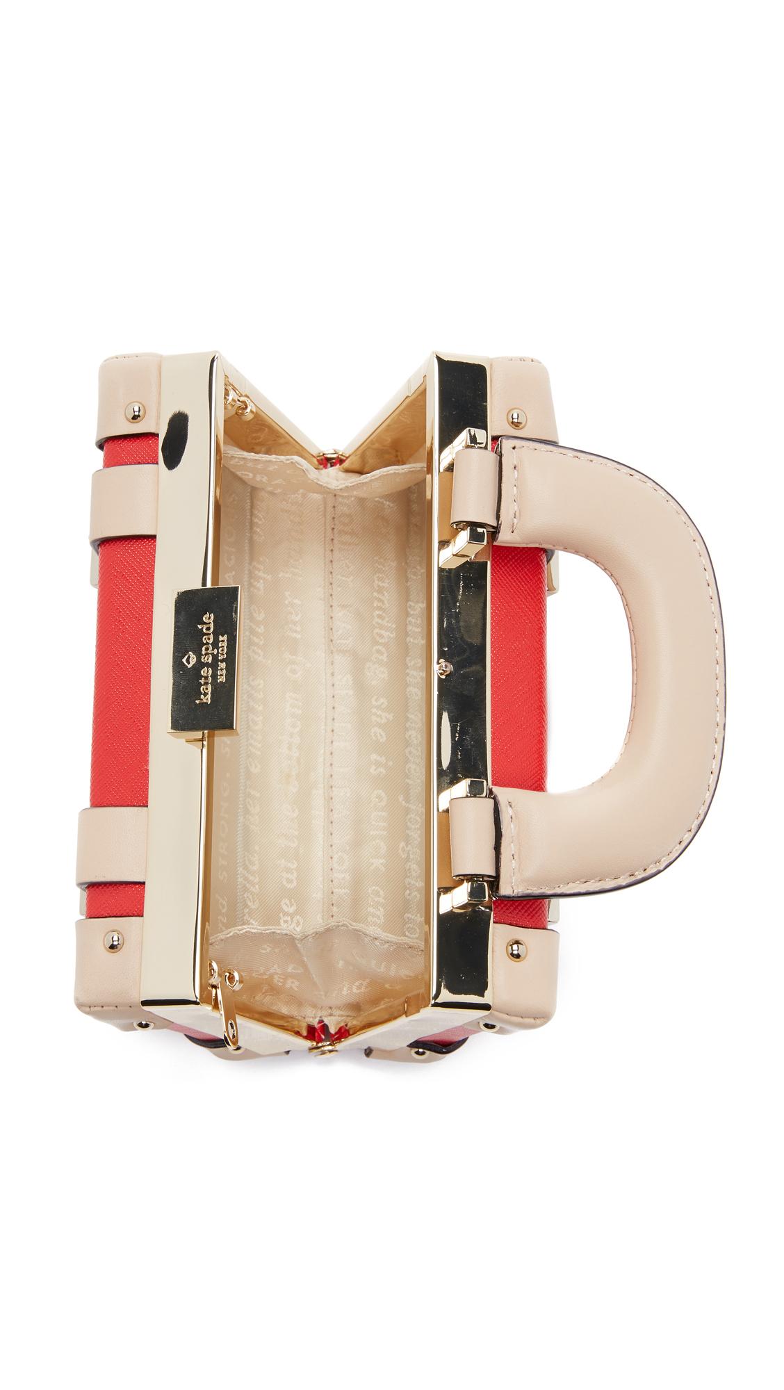 Kate Spade Mini Luggage Cross Body Bag in Red